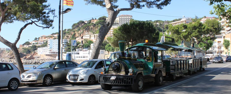 The little tourist train of Sant Feliu de Guixols